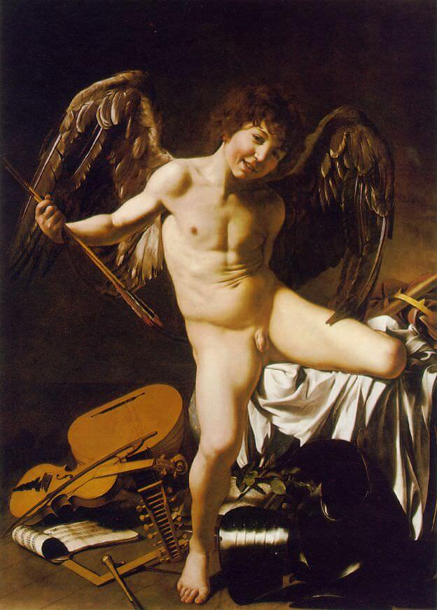 Amor Victorious, 1602 by Caravaggio