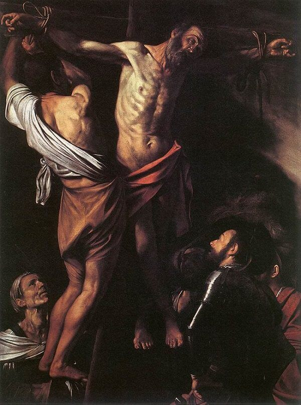 Crucifixion of saint andrew 1607 - by Caravaggio