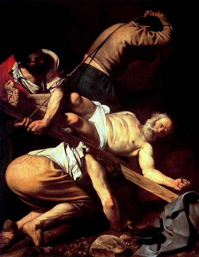 Crucifixion of saint peter 1601 - by Caravaggio