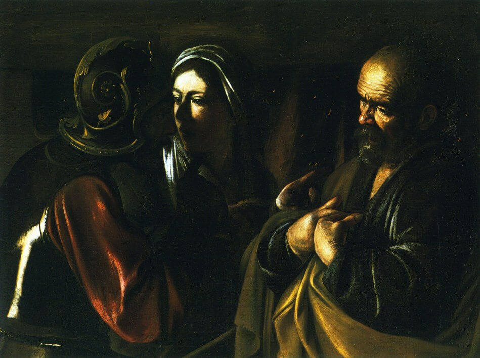 Denial of saint peter 1610 - by Caravaggio
