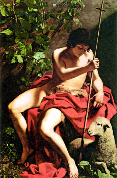 John the baptist 1598 - by Caravaggio