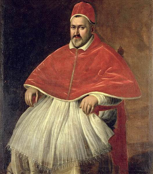 Portrait of pope paul V- by Caravaggio