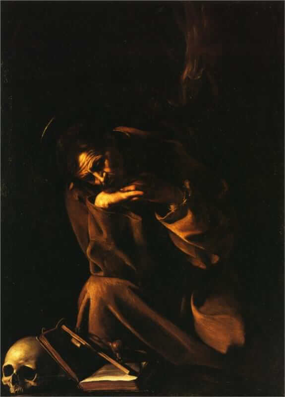 Saint francis in meditation 1606 - by Caravaggio