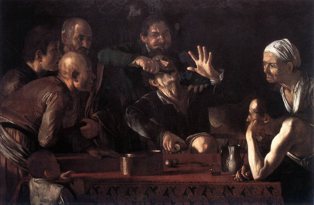 Tooth puller 1609 - by Caravaggio